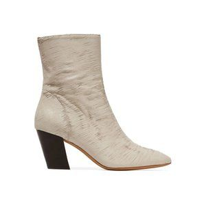 IRO New 37 7 Sliced Coated Leather Ankle Boots